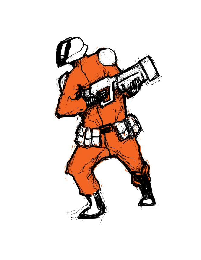 spaceman quick sketch